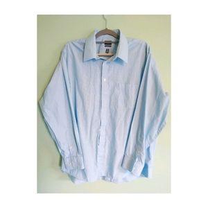 Arrow men's blue pinstripe shirt Sz. XL